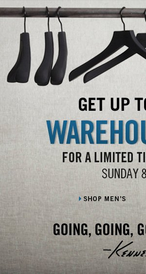 GET UP TO 70% OFF WAREHOUSE SALE // SHOP MEN'S