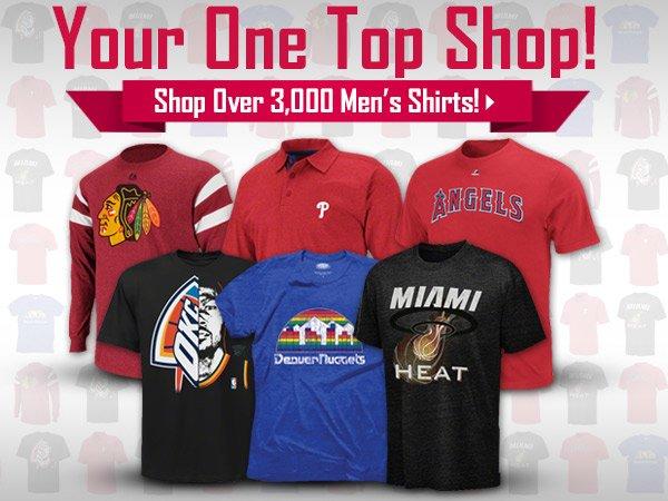 Shop Over 3,000 Men's Tops
