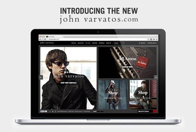 Introducing The New johnvarvatos.com