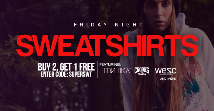 Sweatshirts: Buy 2, Get 1 Free