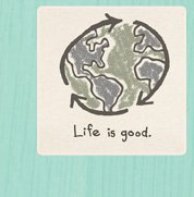 Men's Good Karma Organic Tees Recycle Earth
