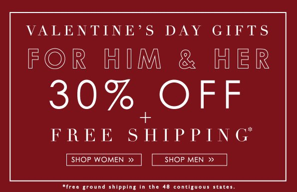 Valentine's Day Gifts for Him & Her