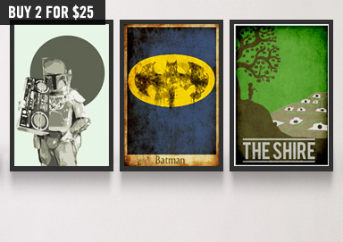 Shop Posters ft. Heroes, Movies & More
