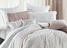 A Serene Sanctuary Calming Bedding, Lights, & More