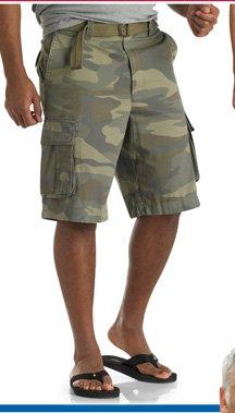 555 Turnpike™ Belted Camo Cargo Shorts