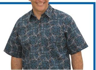 Canyon Ridge® Leaf Print Sport Shirt