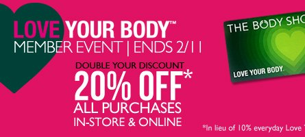 Love Your Body Member Event - Ends 2/11