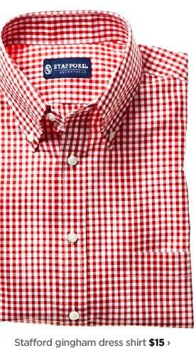 Stafford gingham dress shirt $15›