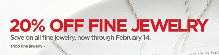 20% OFF FINE JEWELRY. Save on all fine jewelry, now through  February 14. shop fine jewelry›