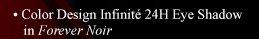Color Design Infinité 24H Eye Shadow in Forever Noir