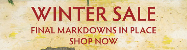 Winter Sale is almost over