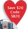 Save $20 Code: SB20