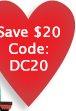 Save $20 Code: DC20