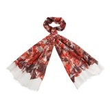 Paul Smith Scarves - Red Collage Floral Print Scarf