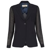 Paul Smith Jackets - Navy Crepe Wool Single Button Jacket