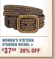 Women's Stetson Studded