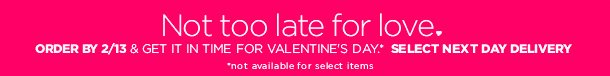 Last Day to Ship for Valentine's Day