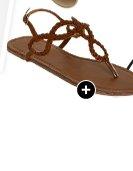 Braided Horseshoe Sandal