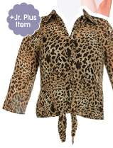 Animal Lace Inset Shirt