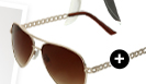 Chain Link Aviator Sunglasses
