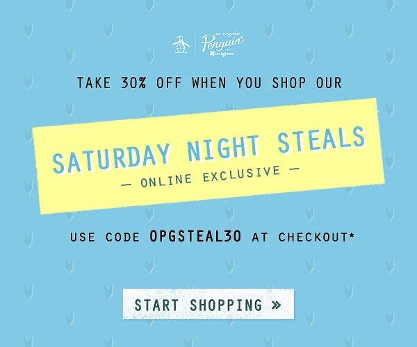 30% Off Saturday Night Steals