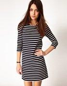 Ganni Nautical Straight Jersey Dress