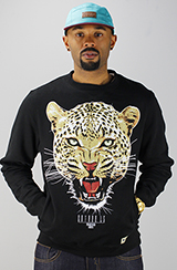 Entree Entree LS 'The Leopard' Black Crew