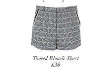 Tweed Bloucle Short