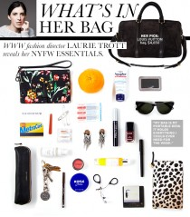 See inside our Fashion Director's handbag during fashion week.