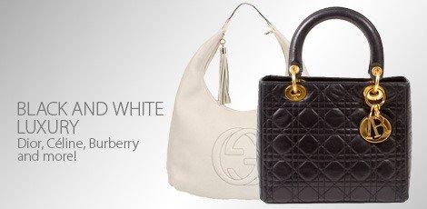 Basic designer necessity- black and white luxury