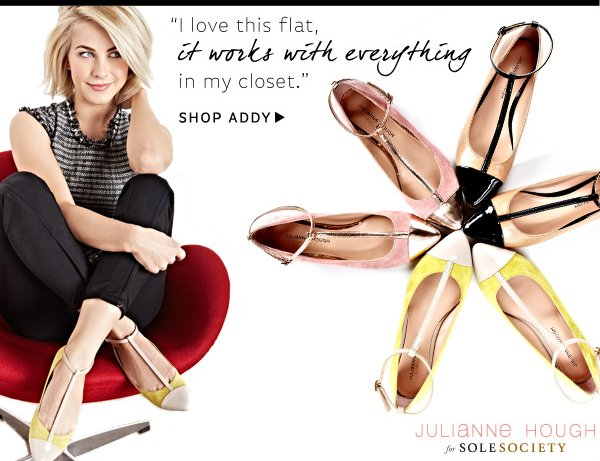 Julianne Hough for Sole Society_Addy