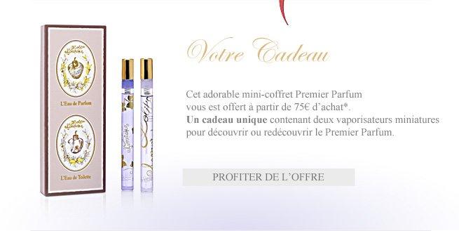 Profiter de l'offre : l'adorable mini-coffret Premier Parfum offert à partir de 75€ d'achat