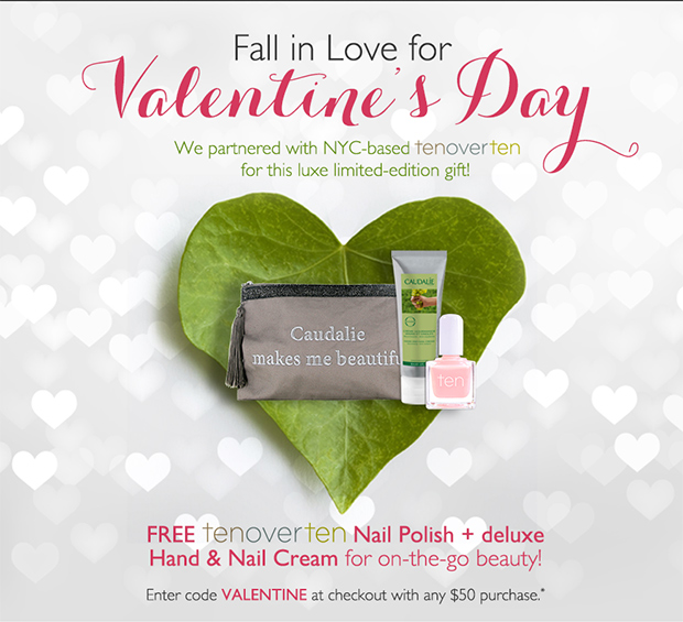 Fall in love for Valentine's Day | We partnered with NYC-based tenoverten for a luxe limited-edition gift: FREE tenoverten nail polish + deluxe Hand & Nail Cream for on-the-go beauty! Enter code: VALENTINE at checkout with any $50 purchase*