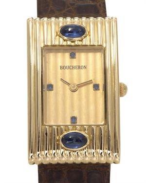 Boucheron Reflet Grosgrain Sapphire 18K Gold Watch $1,999