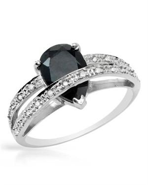 Ladies Diamond Ring Designed In 10K White Gold $129