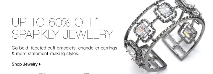 Up To 60% Off* Sparkly Jewelry