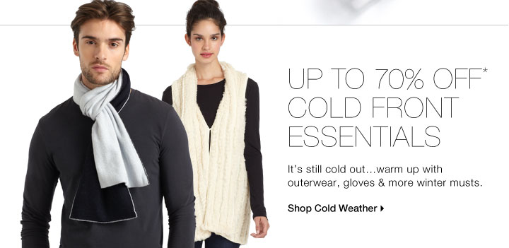 Up To 70% Off* Cold Front Essentials