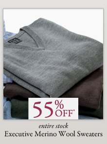 55% OFF* Executive Merino Wool Sweaters