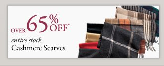 Over 65% OFF* Cashmere Scarves