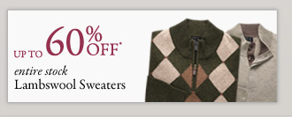 Over 60% OFF* Lambswool Sweaters