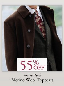 55% OFF* Merino Wool Topcoats