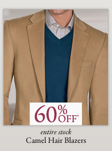 60% OFF* Camel Hair Blazers