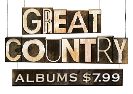 Great Country Albums: $7.99