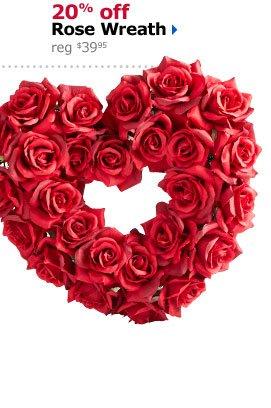 20% off Rose Wreath reg $39.95