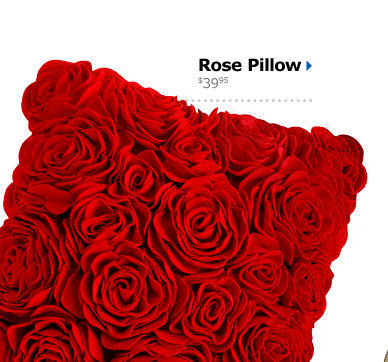 Rose Pillow $39.95