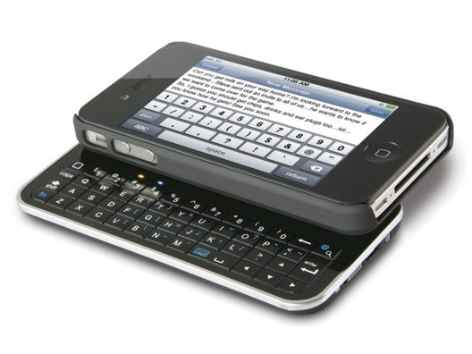 A sleek keyboard for your iPhone for those nights when you end up a little less text savvy.