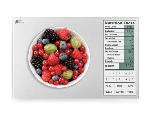 Track your total daily nutritional intake with this sleek scale.