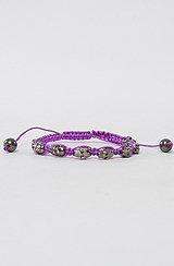 The Threaded Skull Bracelet in Deep Purple