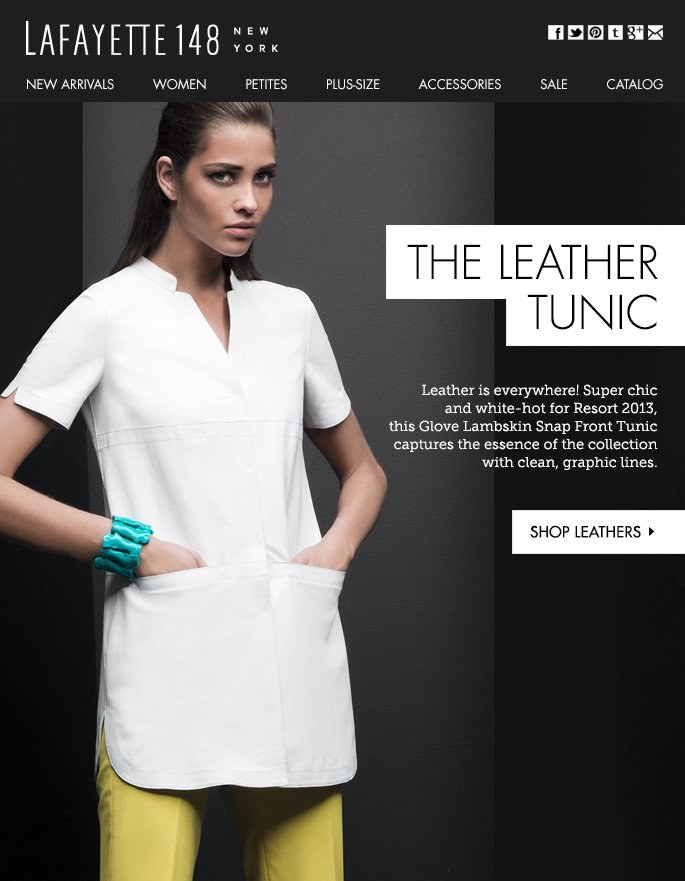 The Leather Tunic: White-Hot for Resort 2013
