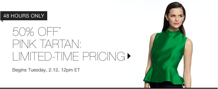 50% Off* Pink Tartan: Limited-Time Pricing...Shop Now